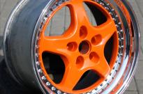 Speedline 2teilig-Stern Orange pulverbeschichtet-Bett hochglanzpoliert