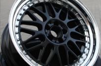 Rial Daytona Race 3teilig- Stern schwarz pulverbeschichtet- Bett hochglanzpoliert